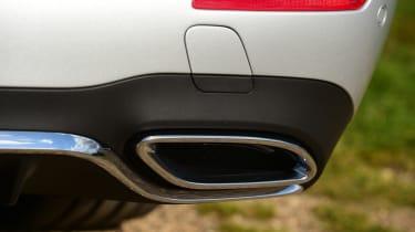 Mercedes E-Class Estate E220d UK - exhaust