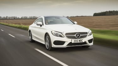 Mercedes C-Class Coupe C250d AMG Line - front tracking 3
