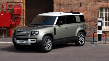 Land Rover Defender P400e PHEV - front charging