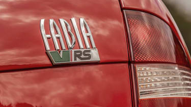 Skoda Fabia vRS Mk1 - rear badge