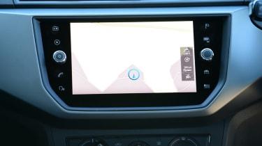 SEAT Ibiza sat-nav screen