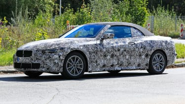 BMW 4 Series convertible spied front