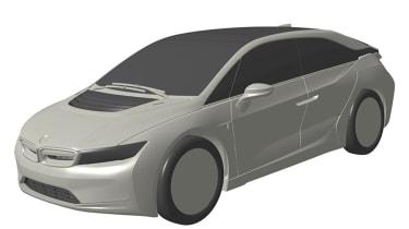BMW i car patent images - front quarter