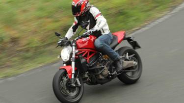 Ducati Monster 821 review - cornering