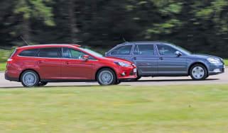 Ford Focus Estate and Skoda Octavia Estate