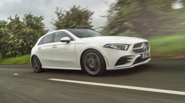 Mercedes A-Class tracking front