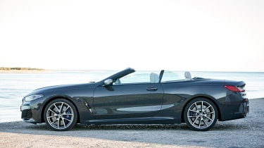 BMW 8 Series Convertible - side roof open
