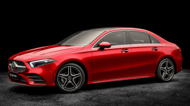 Mercedes A-Class saloon - red front