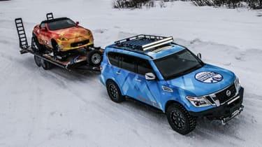 Nissan 370Zki and Armada Snow Patrol