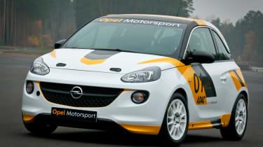 Opel Adam R2 rally car front static