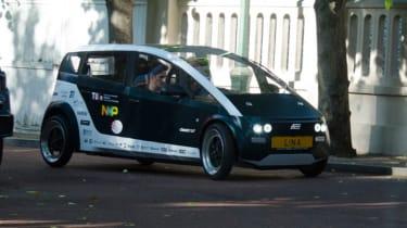 Flax fibre car - streets of London