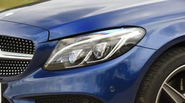 Mercedes C-Class Cabriolet - front light detail