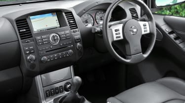 The Navara's interior has a robust and high quality feeling.