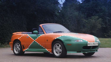 Mazda won at Le Mans in 1991 with the 787B prototype accompanied by a deafening sonic assault from its rotary engine. To celebrate, the marque built 25 Mazda MX-5 Le Mans special editions in the same green and orange livery as the race