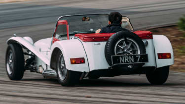 Caterham Seven road trip - Twin Cam SS rear