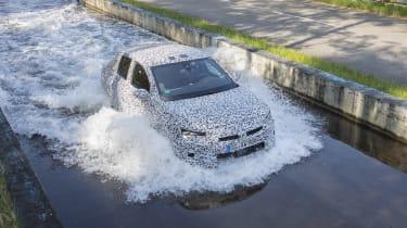 Vauxhall Corsa testing - above