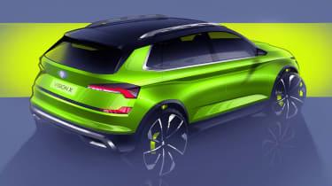 Skoda Vision X sketch - rear
