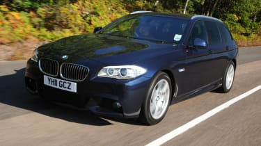 BMW 520d Touring M Sport front tracking