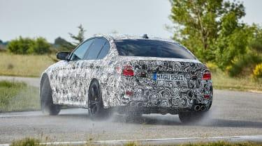 BMW M5 prototype - rear drift