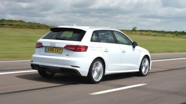 Audi A3 vs Volvo V40 vs Volkswagen Golf - A3 rear tracking