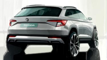 Skoda Karoq rear end sketch