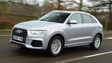 Audi Q3 group test - front tracking
