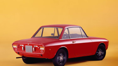 Lancia Fulvia red rear