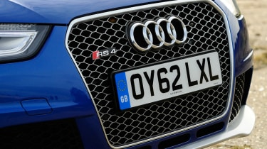 Audi RS4 grille detail