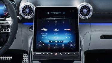 Mercedes SL interior - screen