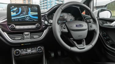 Ford Fiesta Vignale - steering wheel and infotainment