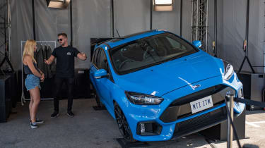 Ford Focus RS on a slight hill