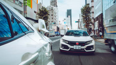 Honda Civic Type R town driving