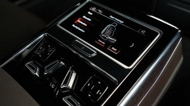 Audi A8 - rear seats controls detail