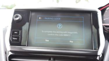 Peugeot 2008 - infotainment screen