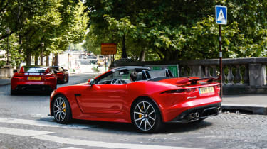 Jaguar F-Type SVR Convertible - rear action