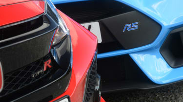 Honda Civic Type R vs Ford Focus RS - front detail