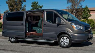Becker Ford Transit Jet Van open door