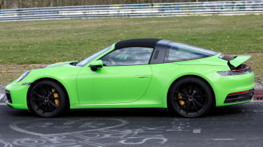 Porsche 911 Targa spies - side