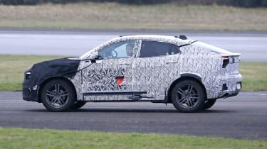 Lynk & Co Coupe-SUV spied  - side tracking