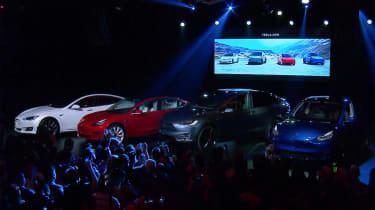 Tesla Model Y reveal - stage