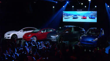Tesla Model Y reveal - stage