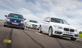 BMW 1 Series vs VW Golf and Mazda 3