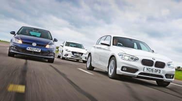 BMW 1 Series vs VW Golf and Mazda 3