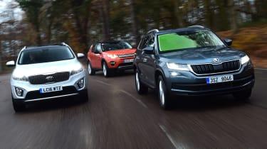 Skoda Kodiaq vs Land Rover Discovery Sport vs Kia Sorento - header 2