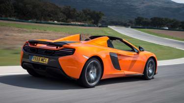 McLaren 650S Spider rear action