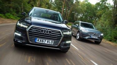 Audi Q7 e-tron vs Volvo XC90 T8 - header