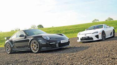 Lexus LFA vs. Porsche GT2 RS