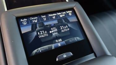 Lexus LS 500h 2018 review - infotainment screen