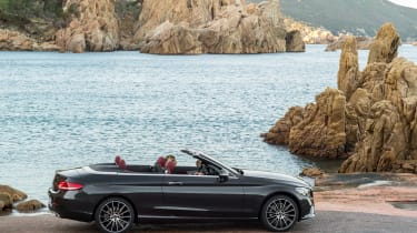 New Mercedes C-Class Cabrio - roof down
