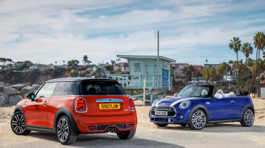 MINI hatch and MINI Convertible - side-by-side